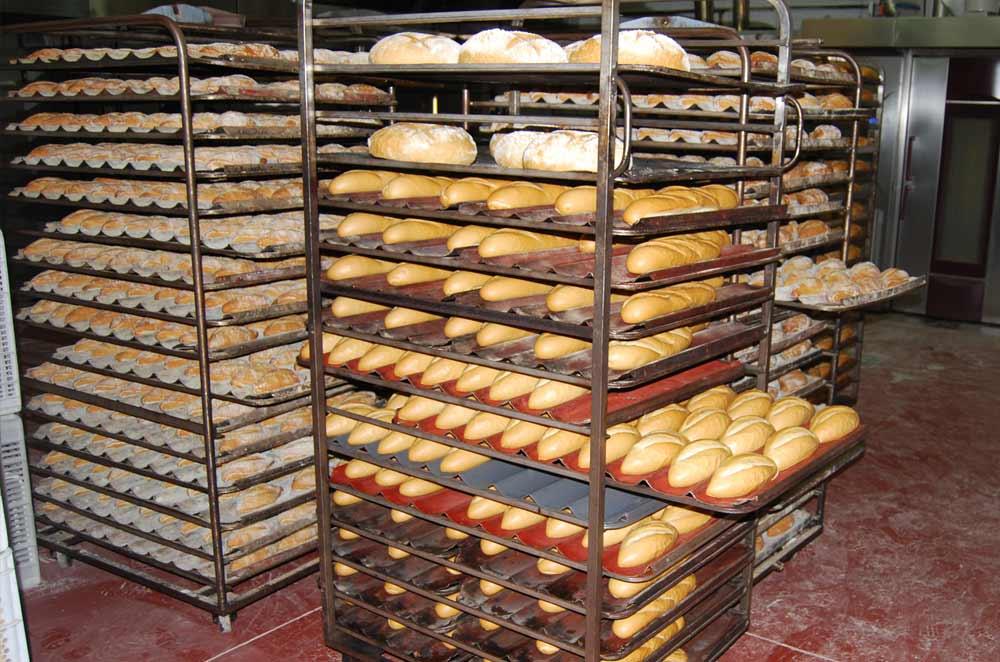 Bandejas de horno para pan industrial